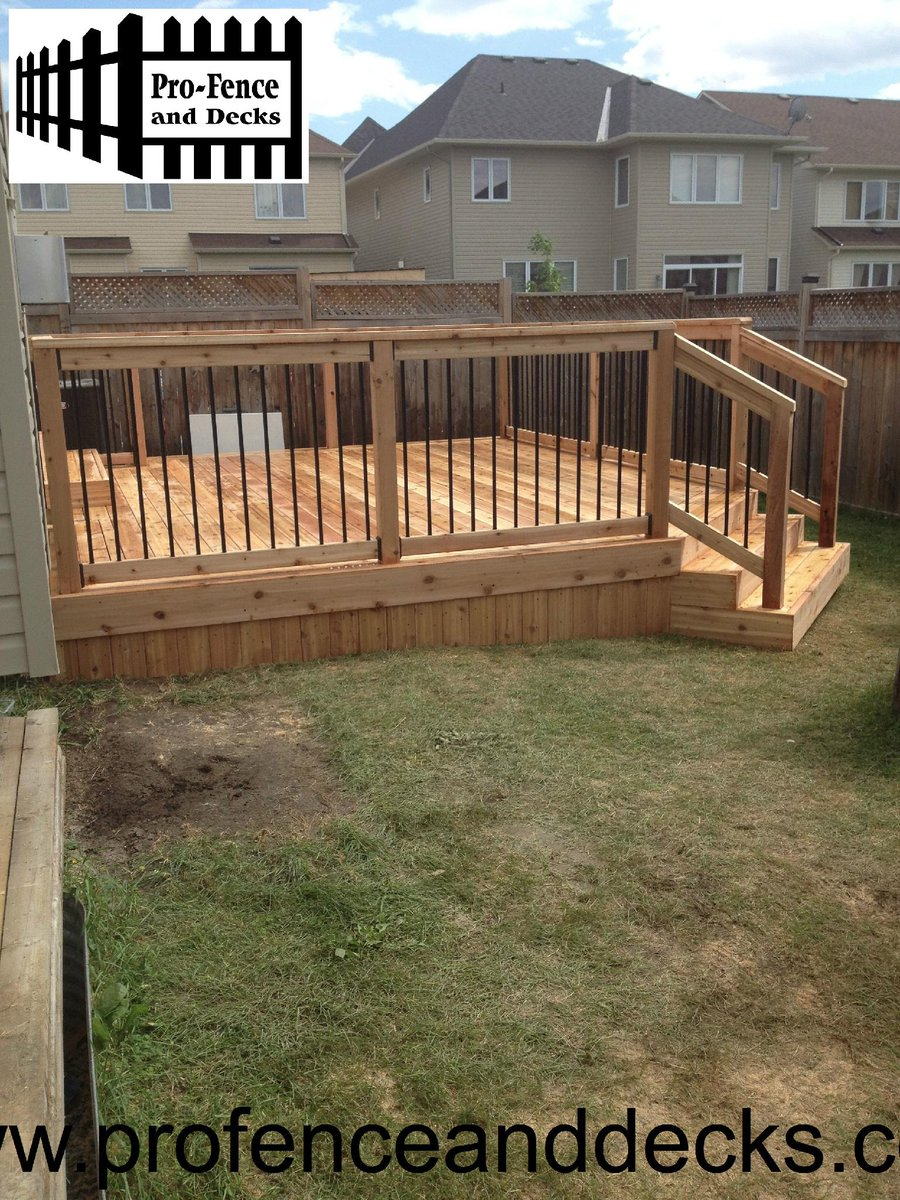 Pro Fence And Decks On Twitter Cedar Deck With Stiles Railing Is Always A Great Addition To Any Backyard Call The S For Free Estimate