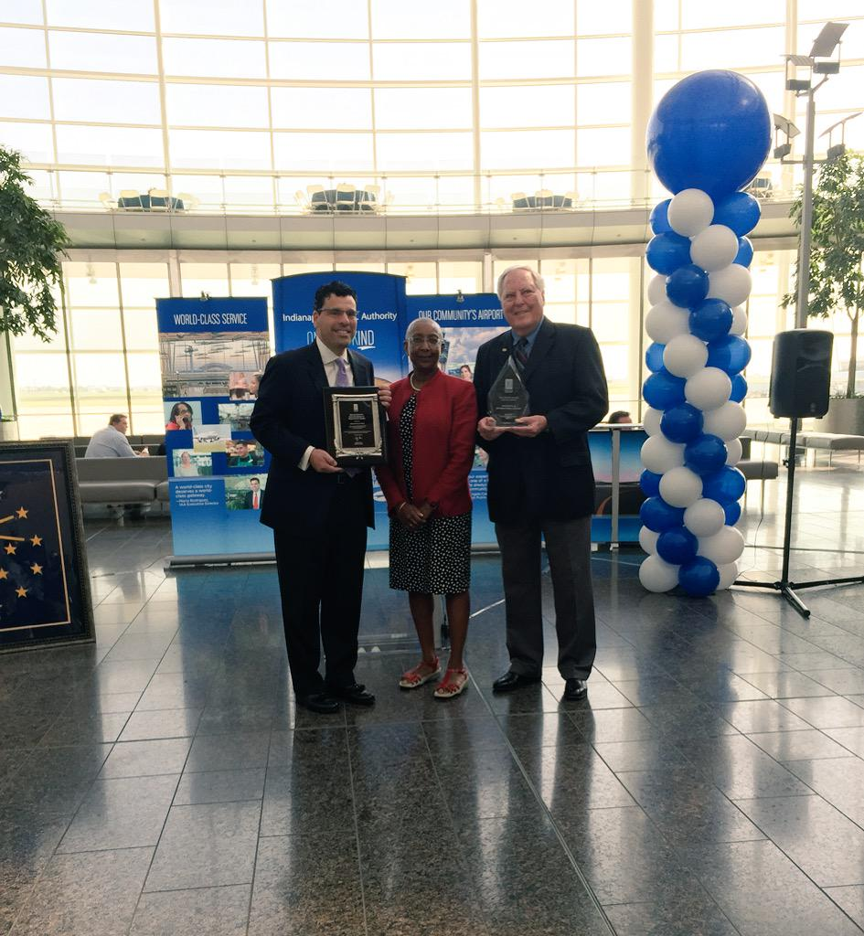 We're honored to receive Best Airport in North America again & be inducted into the Roll of Excellence #celebrateIND http://t.co/1y7HkyAXS5