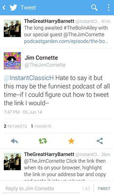 . @TheJimCornette loves us really! Join us @5p EST/10p GMT @ http://t.co/ePBs4nXLYZ Call in 213-992-5177 (pin: 74463) http://t.co/MrNfV4OSe9