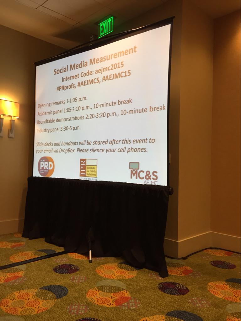 Thumbnail for Recap: PRD/MCS #AEJMC15 Pre-Conference on Social Media Measurement