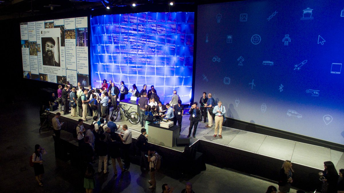 Drone shot of the stage after the keynote at #NIWeek #dronesaregood http://t.co/rDGoVoVRRc
