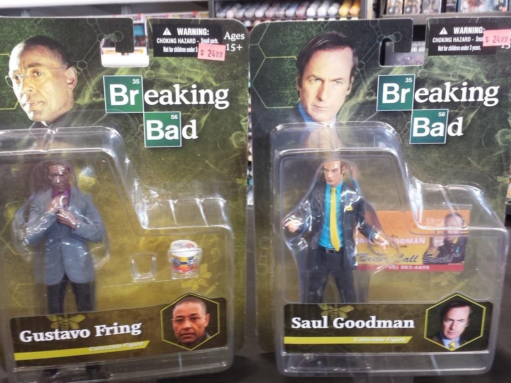 Giant robot comics on twitter next up breaking bad figures we we have gus fring saul goodman with life sized business card they are 2499 each httptyp2pf8tbm8 colourmoves