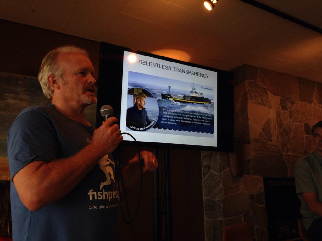 """We're trying to reconnect people to the fishermen who caught their fish."" -- Duncan Berry #IndustryLabSSW http://t.co/38sFbEXHqY"