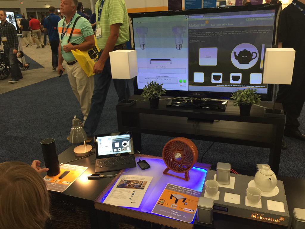 Using @labviewmakerhub Lynx and @chipKIT32 to make an automated home demo #niweek http://t.co/VIeCJAgz7K