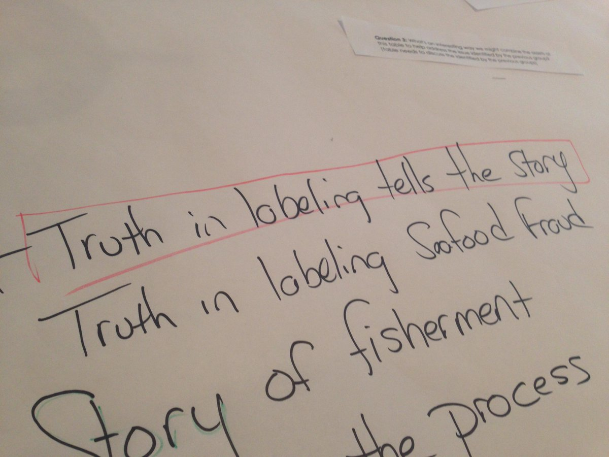 """Truth in labeling tells the story"" #industrylabssw #traceability @FutureofFish http://t.co/LnAkveqTDq"