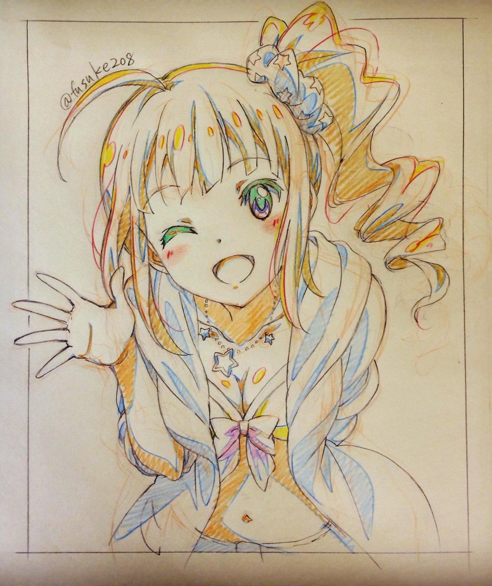 集中力切れつつ練習描き。横山奈緒ちゃん。 http://t.co/uIhhFeaafd