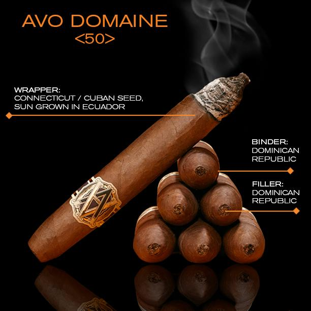 AVO Domaine <50> Crafted for the connoisseur. Composed of highly aromatic tobaccos from Avo's private estate. #Cigar http://t.co/YLiRbEIPX8