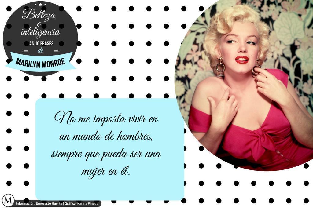 Marilyn Monroe Belleza Inteligencia Frases Marilyn Monroe