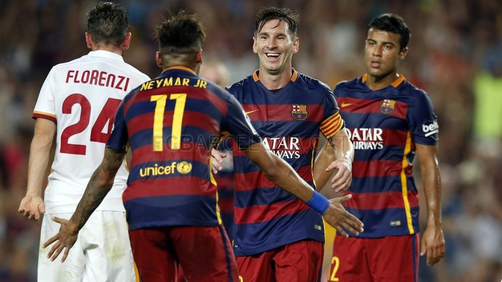 Barcelona 3-0 Roma - Match Report