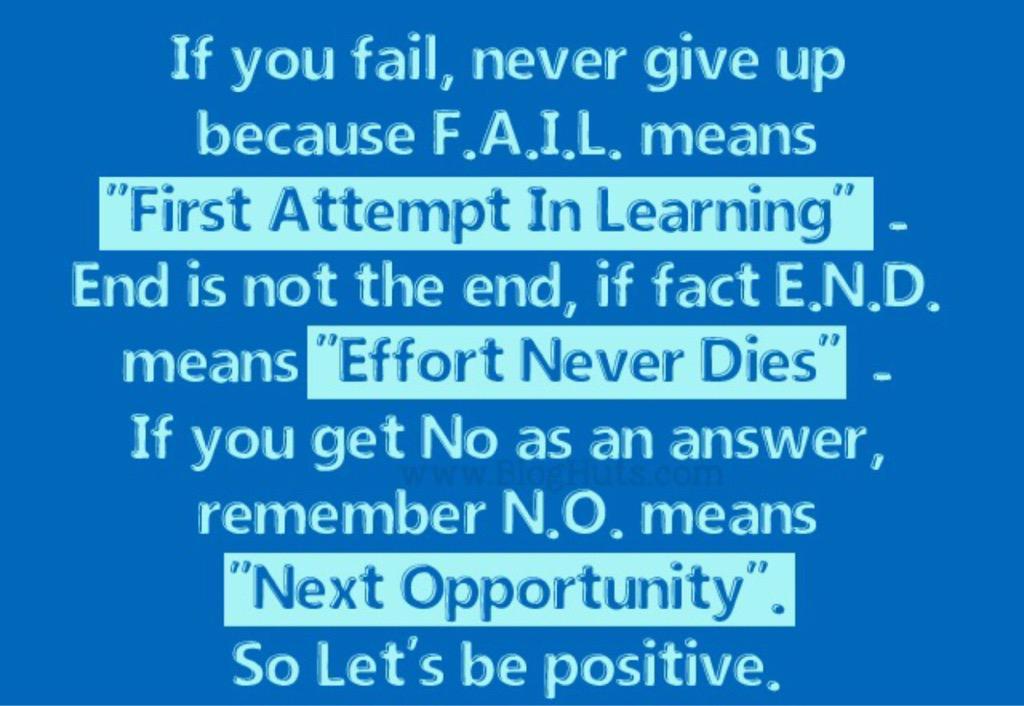 efforts never fails .