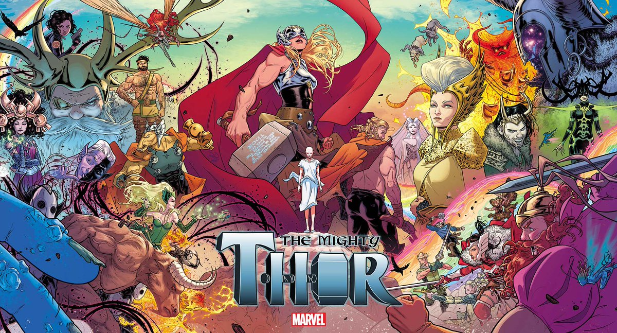 In case you missed it earlier, here's the incredible new cover for THE MIGHTY THOR #1 by @rdauterman & @COLORnMATT. http://t.co/bTdb9RPngC