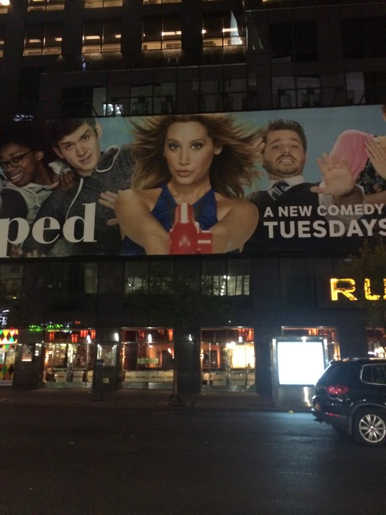 Oh my god. Sharpay Evans finally has a huge billboard in Times Sqaure! http://t.co/Lw8rck5RlI