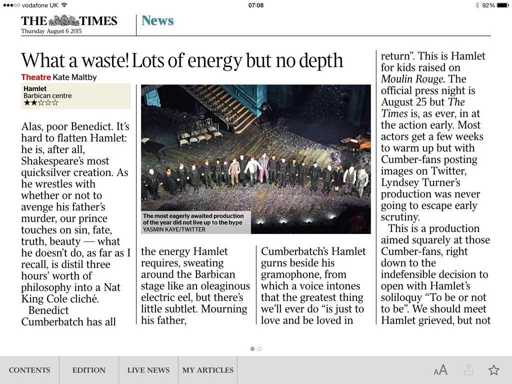 Thumbnail for Hamlet (Barbican 2015)