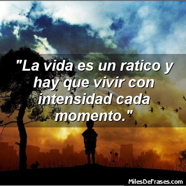 Frases Para Ti Sur Twitter La Vida Es Un Ratico Y Hay Que Vivir Con Intensidad Cada Momento Frases Citas Http T Co F4hx6irroj