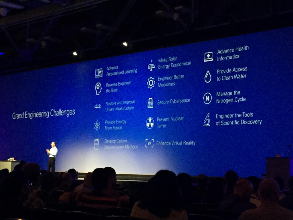 Dave Wilson of @NIglobal kicking off #niweek day 3 keynote with a reminder of the Grand Engineering Challenges. http://t.co/9Wrr1mlchw