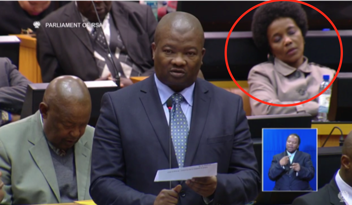 And who is this lady!? She's strong.   Who sleeps through such a ruckus? #ZumaQandA http://t.co/ahuHcxjNNn
