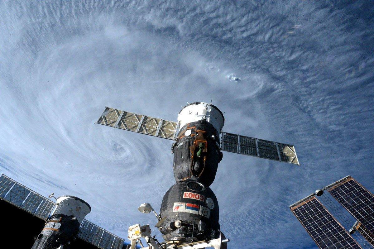 Il supertifone Soudelor (Hanna) visto dalla ISS