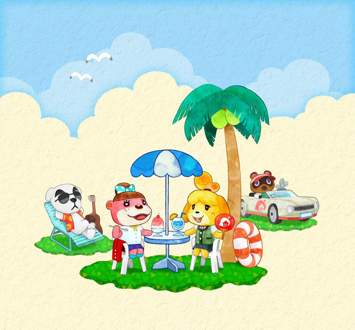 Animal Crossing Uk On Twitter Summery Greetings From Animal