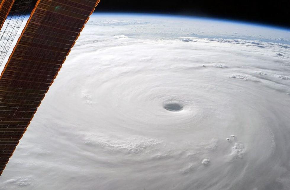 L'occhio del Supertifone Soudelor filmato dalla Stazione Spaziale