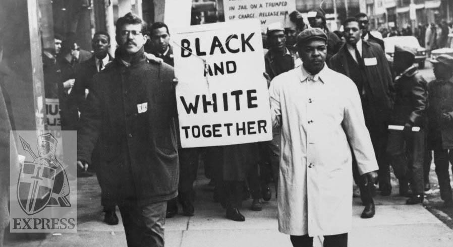 Black White People Together Black & white peop...