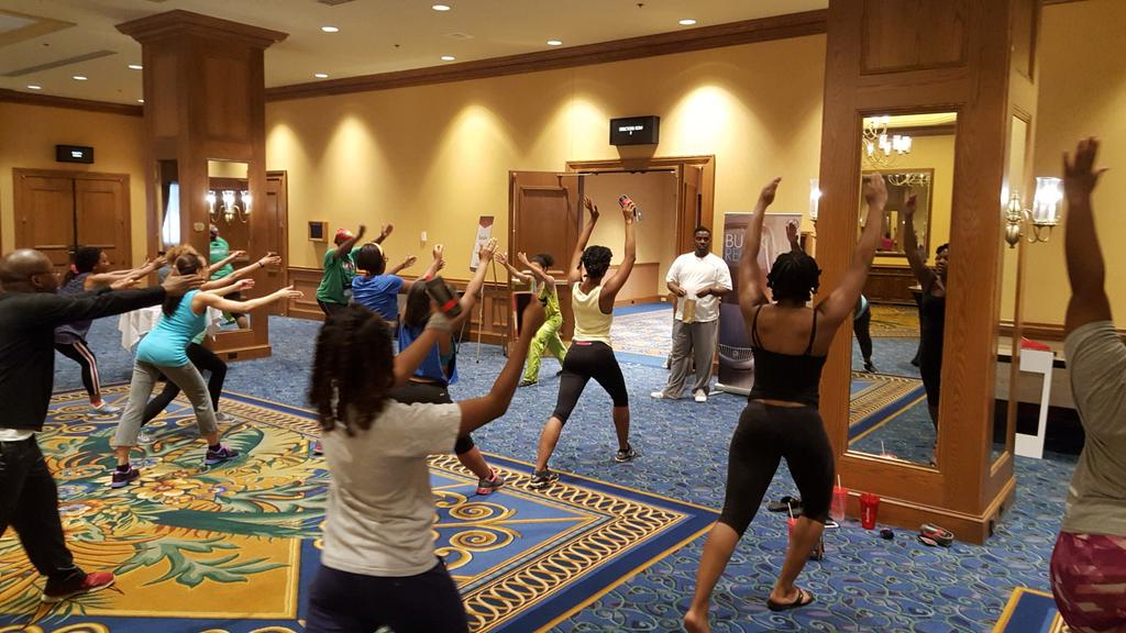 Health is wealth at #NABJ40! RT @DamiaTowns: Great workout this morning @nabj! #nabj2015 http://t.co/JMYtt35ZJO