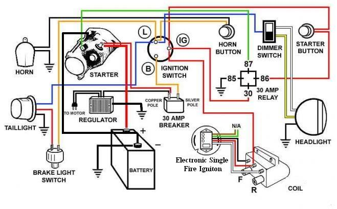 Ether  Switch Circuit Diagram additionally Harley Davidson Points Ignition Wiring Diagram further Hot Rod Wiring Diagram as well Wiring Diagram For Crane Ignition System besides Exploded Diagram Of Motorcycle Engine. on basic chopper wiring diagram