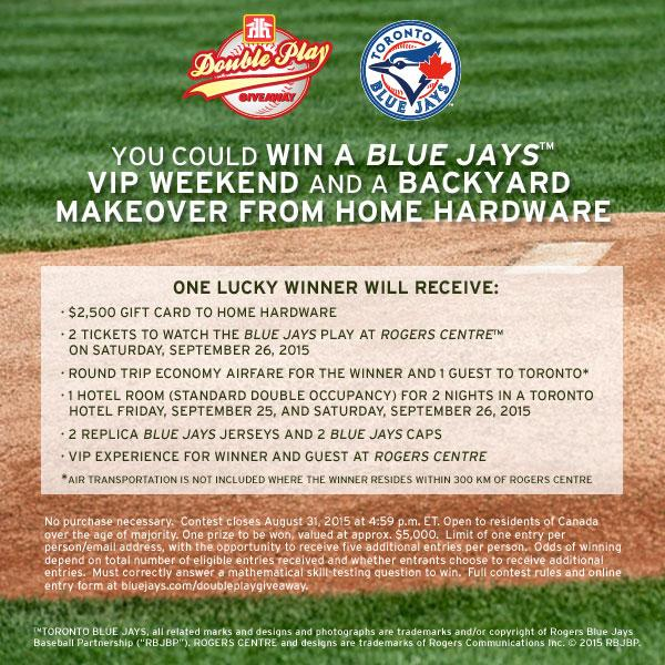 HOME HARDWARE DOUBLE PLAY GIVEAWAY CONTEST