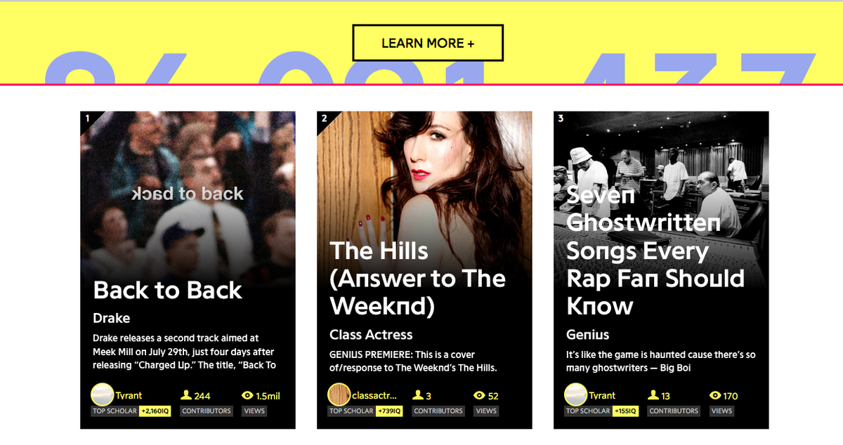 Front page of @RapGenius my response track to @theweeknd 's #thehills produced by  @messkid http://t.co/pqbKwQsuJD http://t.co/LKNQhMogSA