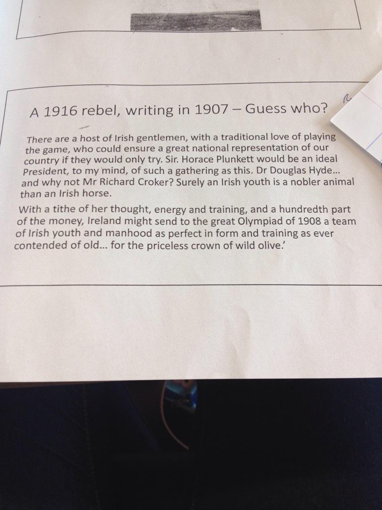 A bit of history trivia #teach1916 http://t.co/OKIDt1UNHN