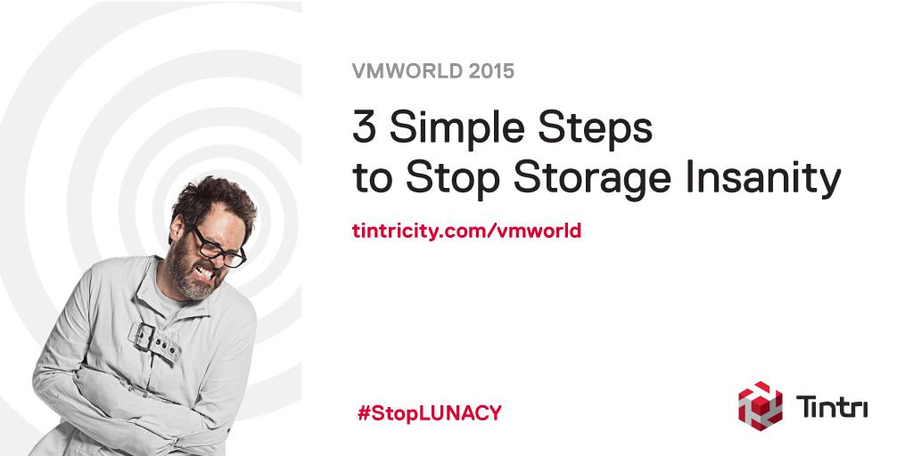 3 out of 4 data center pros suffer from LUN addiction.   Stop by the Tintri booth #921 at VMworld to #StopLUNacy! http://t.co/4XmkLzS5WG