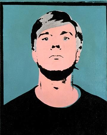 """Happy Birthday, Andy Warhol! He would have been 87 years old today. #warholBirthday """"Self-Portrait,"""" 1964, ©AWF http://t.co/EE0jMDGUND"""