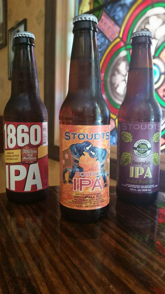 It's #NationalIPADay! What are you drinking? #FourplayIPA? #1860IPA? #DoubleIPA? Make it a Stoudts! http://t.co/8xKuKyqfHe