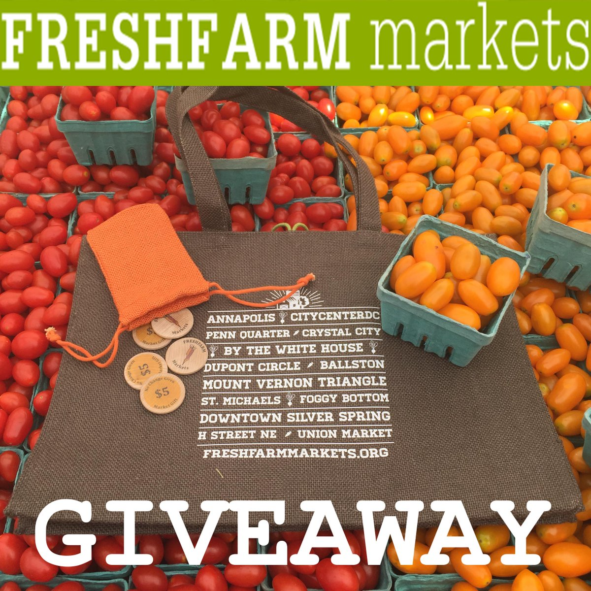 #NFMW giveaway! Tag a friend, retweet & favorite for your chance to win a @FRESHFARMMktsDC bag & $25 in tokens! http://t.co/AmCn4v5ecg
