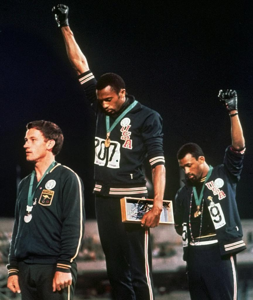 Peter Norman, John Carlos, Tommie Smith, 1968 Olympics