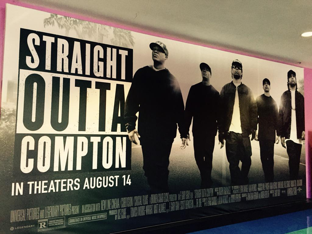 @FGaryGray did it again! Telling the dope story of @icecube @drdre @mcrencpt #EazyE #djYella  #StraightOuttaCompton http://t.co/TqNDnSmW9F