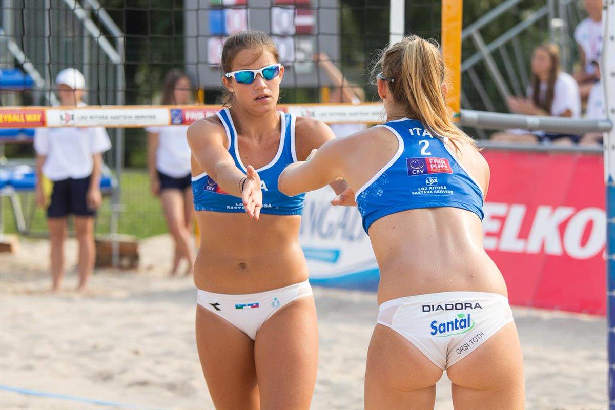 Girl Beach Volleyball Players