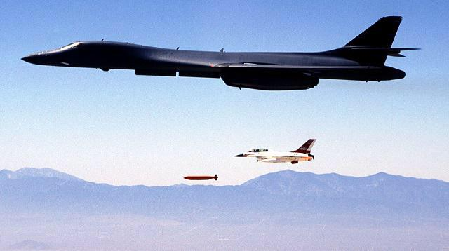 B-1 bomber can now drop F-16s out of its weapon bays.  ;) http://t.co/bXjAOFpGbb