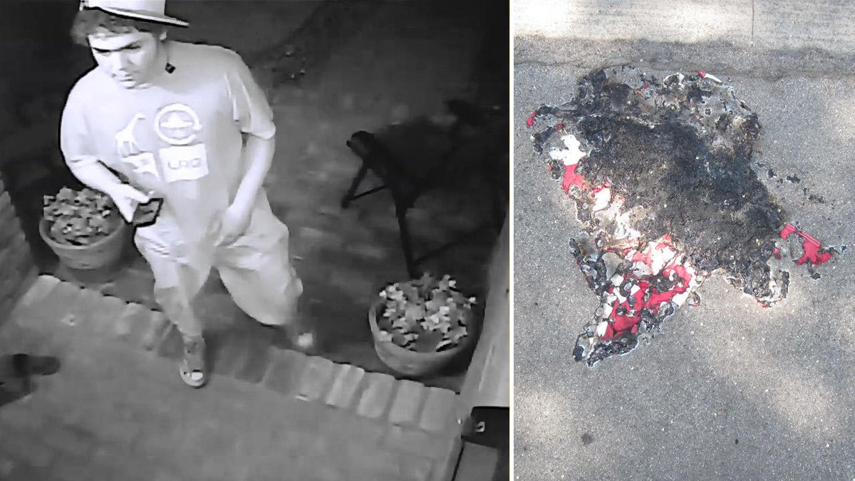Leftist steals Navy vet's American flag, burns it Long Beach
