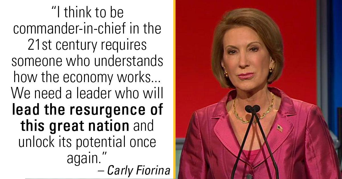 Carly Fiorina jumps 8 points in Rasmussen GOP poll