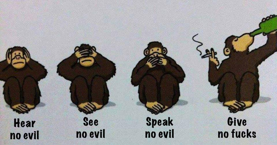 Image result for hear no evil see no evil speak no evil