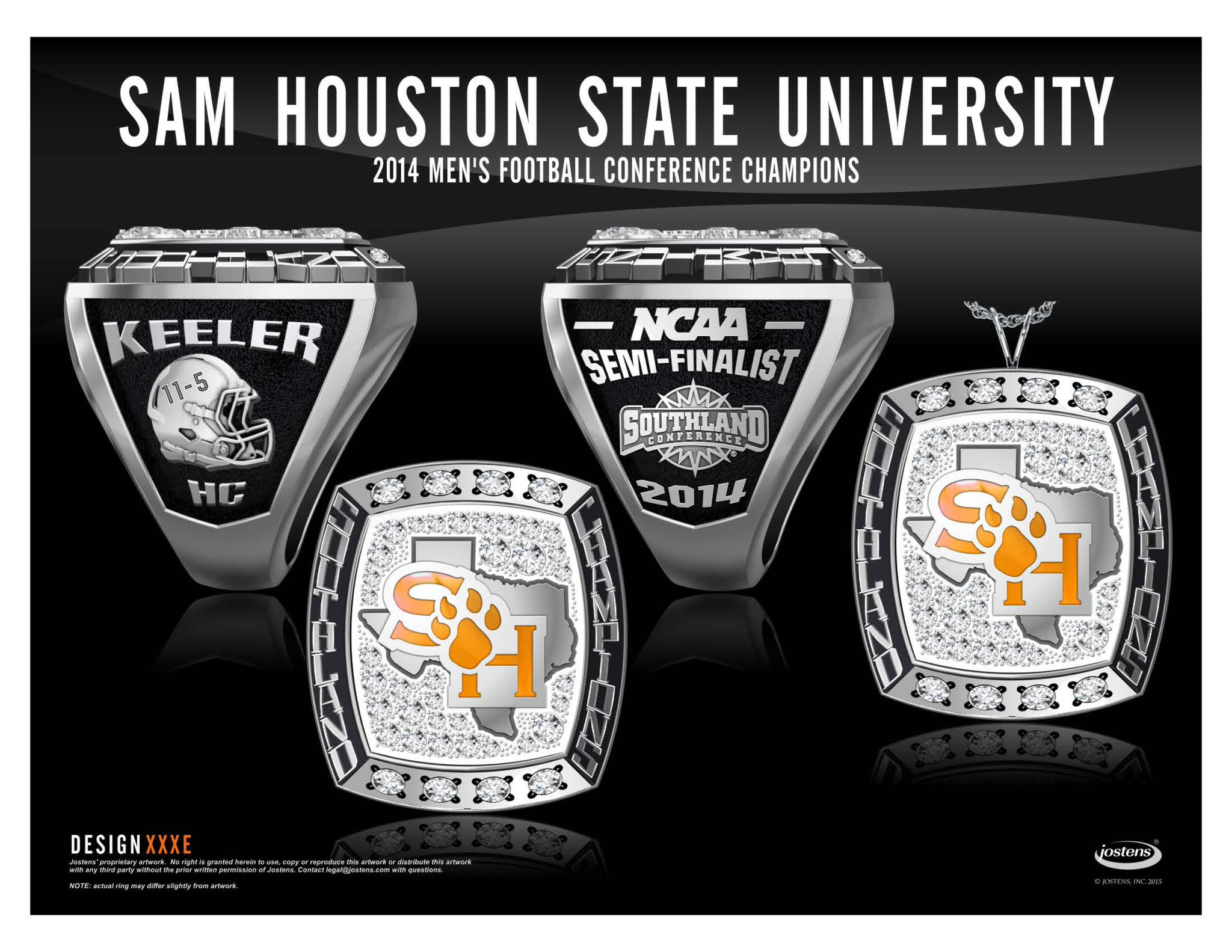 houston state ring rings custom ringwraps copy white work wg shsu sam gold original front
