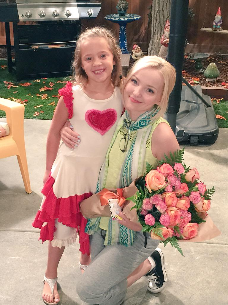 @DoveCameron, @BaliBare loved meeting you today. Thx for being so gracious! #LivAndMaddie #Disney http://t.co/308940ER09