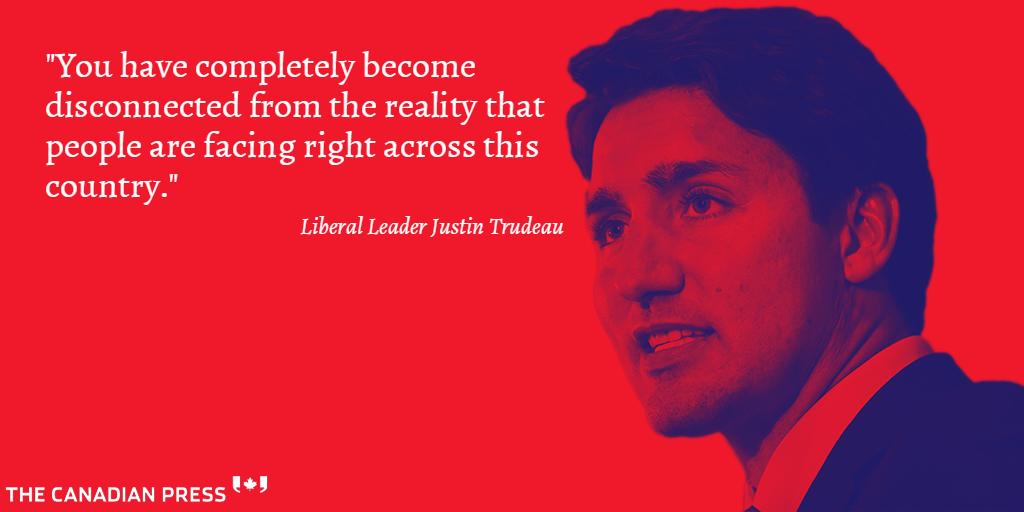 Justin Trudeau dismissed the Conservative government's economic plan as a failure: #elxn42 #cdnpoli