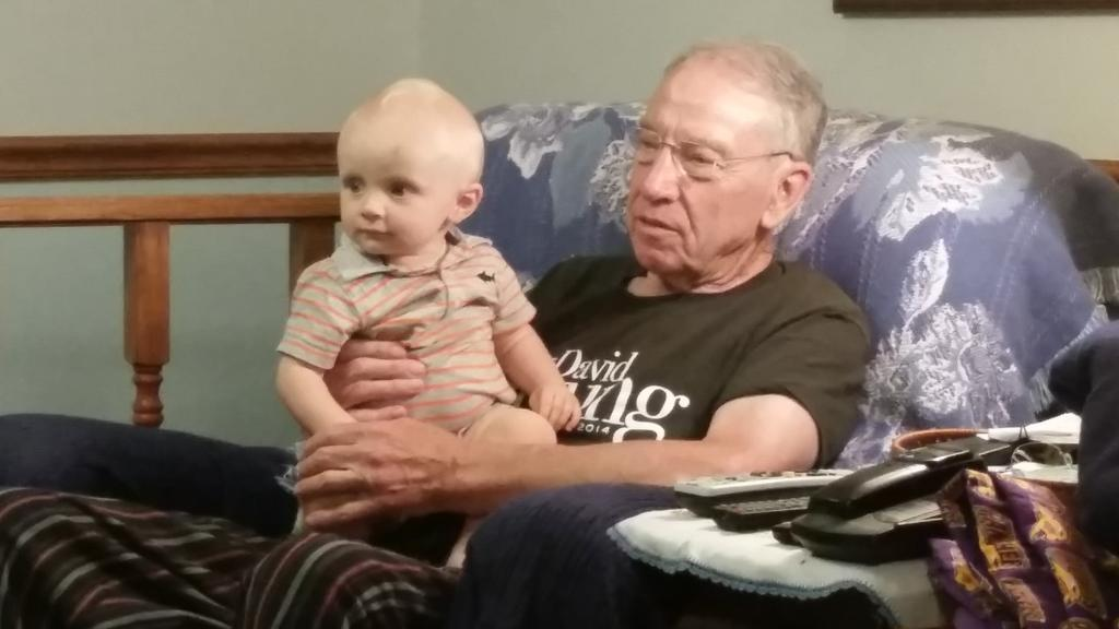 Chancellor Charles and @ChuckGrassley watching the debate.  #debateprep http://t.co/xE1a3YPgvv