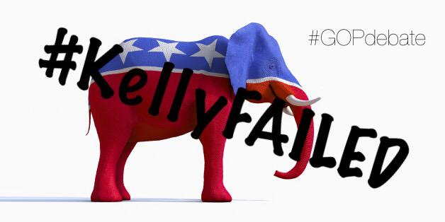 "@FoxNews terrible ""debate"" which @megynkelly turned it into @GOP elephant circus. #GOPDebate @DanScavino #KellyFailed http://t.co/RjdZfiuZ7Q"