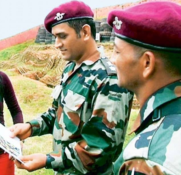 Image result for ms dhoni army twitter