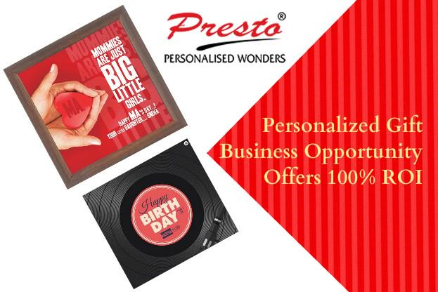 Personalized Gift Business Opportunity Offers 100% ROI