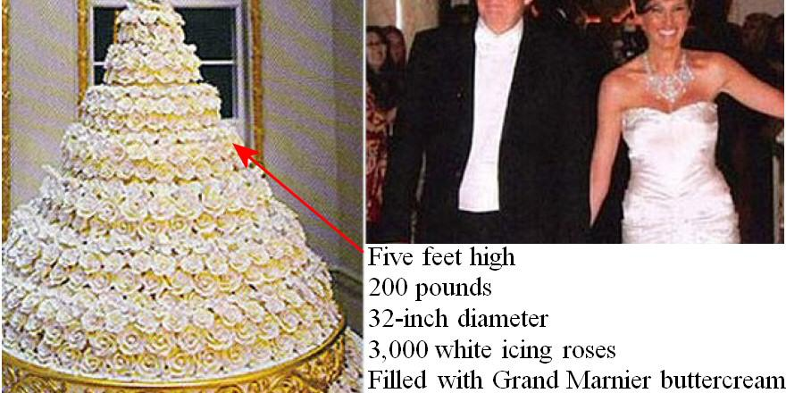 Cliff Pickover On Twitter Fact Donald Trump Melania Knauss S Wedding Cake Had 3000 Icing Roses Source Fox News Http T Co Pws2dpii27