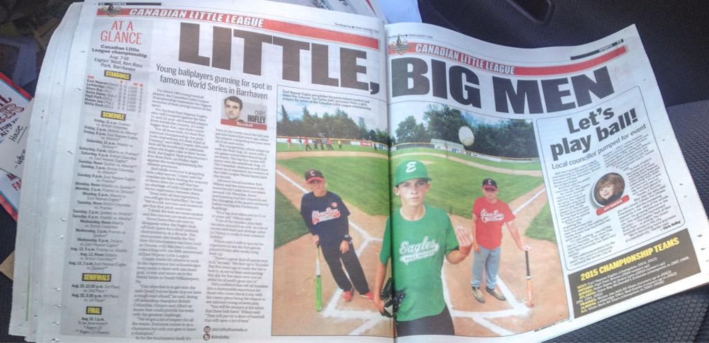 GO! Starting today, 75 #LittleBigMen will compete @2015LLCanadians. All games at KenRossPark in #Barrhaven. #ottnews http://t.co/WCyOy4sadq