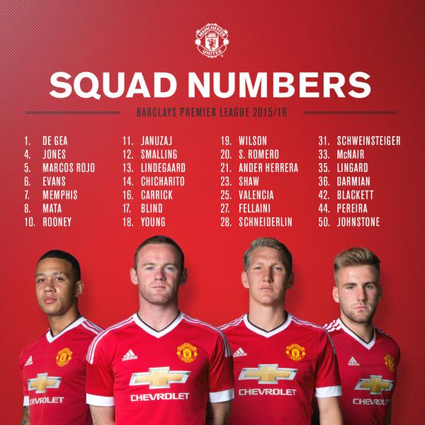 6b0450cea manchester united name new squad numbers with memphis depay taking no 7 mufc